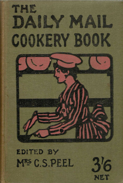 The front cover from the Daily Mail Cookery Book from 1919