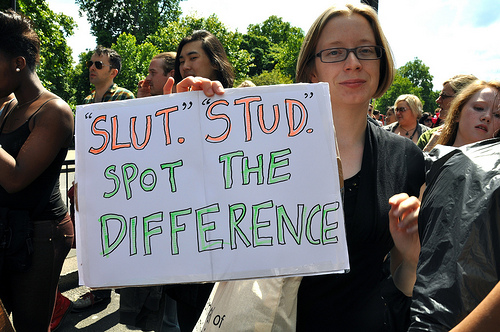 slut stud, spot the difference
