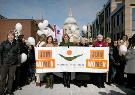 Annie Lennox, Sarah Brown and Cheri Lunghi Join Me on the Bridge Millenium Bridge London 2010.jpg