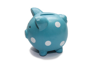 Blue piggy bank with white dots.jpg
