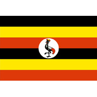 Public domain image 'Flag of Uganda' via Wikimedia Commons