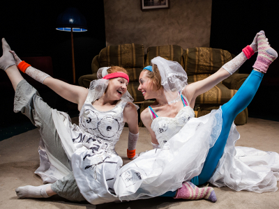 Georgia Buchanan and Kelly Burke in wedding dresses - Sluts of Sutton Drive - photo by Richard Davenport.jpg