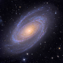 This image is called M81s. It is a photo of the Messier 81 spiral galaxy which was found at Wikimedia Commons and is used under the terms of the Creative Commons Attribution-Share Alike 3.0 United States license.