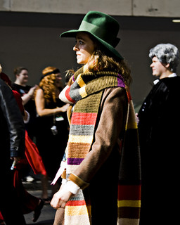 Woman cosplaying as the Fourth Doctor.jpg