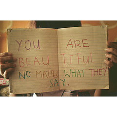 This image is called You Are Beautiful. It was modified by Helen from an original photo by La Melodie under the Creative Commons Attribution 2.0 Generic license