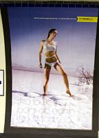 Holiday advert for Israel showing model