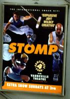 Two men, one woman in STOMP