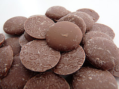 pile of milk chocolate buttons