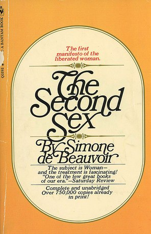 An early book jacket for The Second Sex