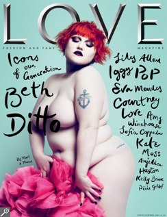 Beth Ditto's Love Magazine cover