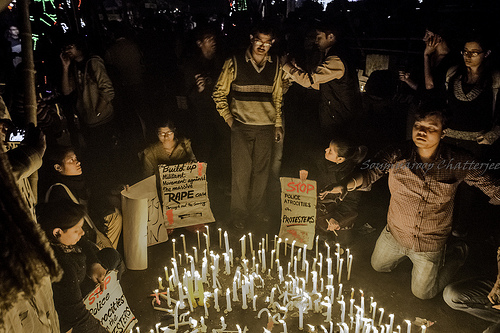 Candle-lit anti-rape march in Kolkata