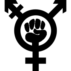 Trans feminist fist symbol made by Helen G at The F-Word - if using elsewhere please ensure correct attribution