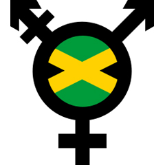 Composite image of transgender symbol and Jamaican flag by Helen G for www.thefword.org.uk. If reusing elsewhere, please ensure correct attribution.