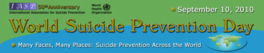 World Suicide Prevention Day banner and link to website