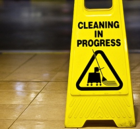yellow cleaning in progress sign.jpg